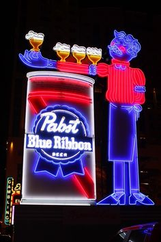 Fremont East in Downtown Las Vegas Gets a New Neon Sign Courtesy of PBR | Vital Vegas Blog