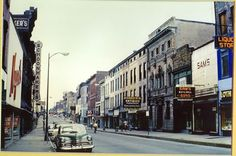 Water Street, Newburgh NY before urban renewal
