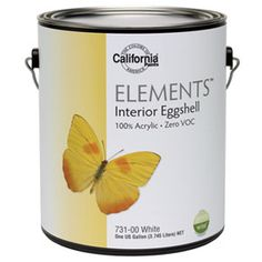 Low VOC Paint: California Elements Zero VOC($35/gal, californiapaints.com)  This zero VOC (volatile organic compound) paint is a great choice for a child's room or bright kitchen, as it resists even the toughest fingerprints and sunlight. California Elements Zero VOC paint didn't stand up to abrasion tests, however, so it is likely to scratch easily. Available at one of the over 300 dealers in the USA. In 1975 colors + additional standard colors, but any color can be matched in all products