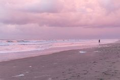 pink, beach, and pale image