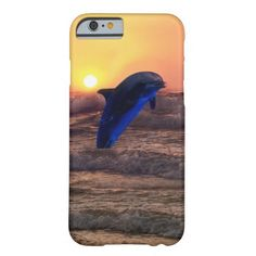 Dolphin at sunset iPhone 4s 5s 6s case