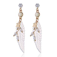 Fashion Feather Earrings Star Rhinestones Acrylic Dangle Earrings Gift for Girls Women online - NewChic Jewelry Sets, Jewelry Necklaces, Women Jewelry, Feather Earrings, Dangle Earrings, One Piece Bikini, Goods And Service Tax, Gifts For Girls, St Kitts And Nevis
