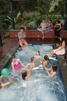 #SwimSpaSaturday - Endless Fun for kids in a Swim Spa!