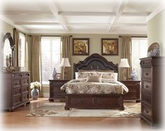 MASTER BEDROOM - Caprivi Brown 5 Pc Bedroom Set W Cal King Panel Storage Bed -Brown - $ 2,580.  http://www.theclassyhome.com/comersus_viewItem.asp?idProduct=57626&Furniture=Caprivi Brown 5 Pc Bedroom Set W Cal King Panel Storage Bed