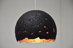 Handgemachte Recycling-Papier-Lampenschirm Ei 03 von 7LAMPI