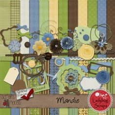 A sweet kit for scrapbooking.... called Mandie... it is inspired by one of my daughters
