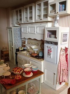 Cabinets are hung :)   by It's a miniature life...is playing with clay