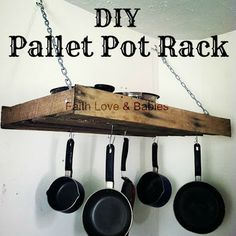 DIY Pallet Pot Rack  Upcycling a pallet