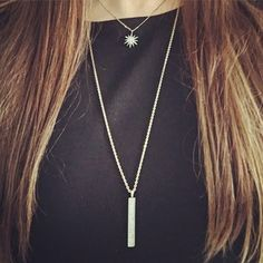 Pavé Bar Long Pendant Necklace | Chloe + Isabel