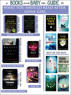 BOOKS // What To Read After Gone Girl. So you've read Gone Girl and probably seen the movie too. You loved the thrill and now you're on the lookout for something similar, right? Try these psychological thrillers that will really mess with your mind. #thriller #books #gonegirl