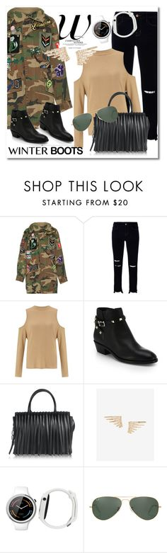 """Fashion boy Wonder"" by vkmd ❤ liked on Polyvore featuring Marc Jacobs, J Brand, Miss Selfridge, Valentino, Alexander Wang, Express, Motorola, Ray-Ban and winterboots"