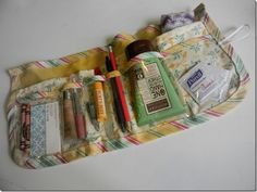 Must-have for vacation: bag organizer ~~ free sewing pattern with step-by-step instructions