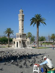 Izmir, Turkey. Took a picture in front of that clock tower.