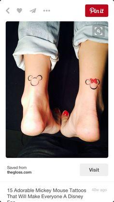 Mickie and Minnie tattoo