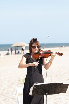 Nothing like live music on the beach.   Photo by Coleman Shots www.engagingeventsobx.com #engagingeventsobx #outerbankswedding