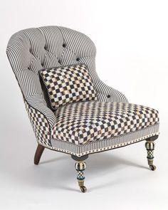Tufted Nailhead Trim Chair | Neiman Marcus | Tufted Nailhead Trim Seat