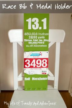 Such a cool idea for the favorite runner in your life (or yourself). My Life of Travels and Adventures: Race Bib & Medal Holder Race Medal Holder, Medal Holders, Running Medals, Running Race, Race Bibs, Running Inspiration, Run Disney, It Goes On, Courses