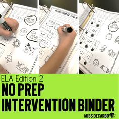 In this post, I'll show you my No Prep Reading Intervention Binder for ELA: Edition 2. We'll look at the ideas, activities, and phonics skills for readers.