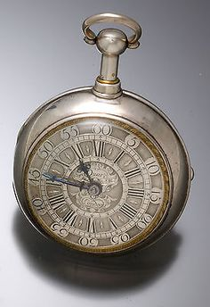 Very RARE Daniel Quare ¼ Hour Verge Fusee Massive 19 Size Silver Pocket Watch | eBay