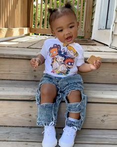 The Effective Pictures We Offer You About baby girl hairstyles korean A quality picture can tell you Cute Little Girls Outfits, Kids Outfits Girls, Toddler Girl Outfits, Toddler Girls, Toddler Swag, Cute Mixed Babies, Cute Black Babies, Cute Babies, Cute Kids Fashion