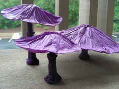 Mushrooms (Design by Vincent Floderer) Paper Art, Paper Crafts, Art Lessons, Origami, Stuffed Mushrooms, Crafty, 3d, Design, Reading