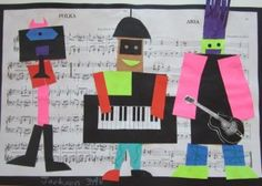Picasso Collages-LOVE the music as background, would like to add this to my 3 Musicians project
