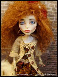 Custom Spectra Monster High OOAK Repaint and Outfit by Fantasy Dolls by Donna Anne. Find me on Facebook - https://www.facebook.com/pages/Fantasy-Dolls-by-DonnaAnne/837776306265877
