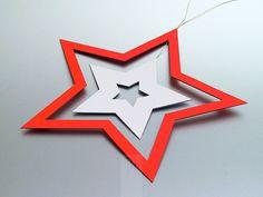 Stella natalizia intagliata a mano su cartoncino di FMLdesign su DaWanda.com, € 10,00