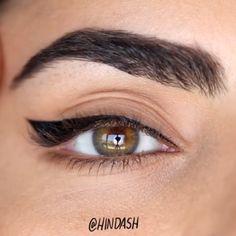 Literally eyeliner goals! By @hindash
