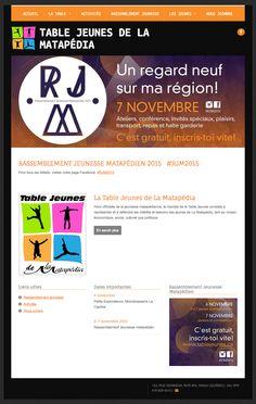 Table Jeunes de La Matapédia a créé son propre site Web avec Mon site Primo