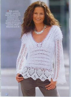 Spring / fall women crochet blouse  MADE TO ORDER by AsDidy, $105.00
