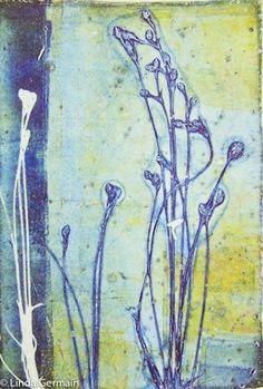 Gelatin plate print by Linda Germain