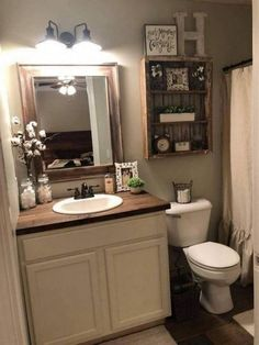 24 Wonderful Small Farmhouse Bathroom Decor Ideas And Remodel. If you are looking for Small Farmhouse Bathroom Decor Ideas And Remodel, You come to the right place. Here are the Small Farmhouse Bathr. Small Bathroom Organization, Diy Bathroom Decor, Bathroom Design Small, Organization Ideas, Bathroom Designs, Bathroom Styling, Bathroom Inspo, Bathroom Counter Decor, Bathroom Interior