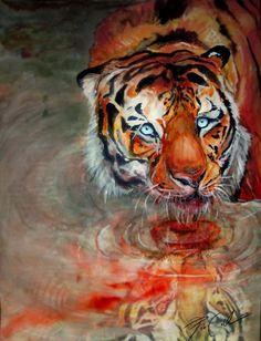Retrato encantador pinturas coloridas por Svenja Jodicke
