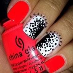 simple nail designs. i like this design and the colors