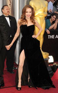 Angelina Jolie in Atelier Versace. Bam!