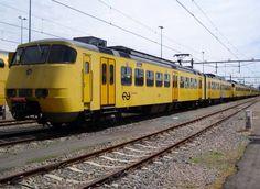 Dutch Railways Sprinter seen at Leidschendam