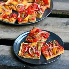 Maikin mokomin: Italialainen piirakka kikhernejauhopohjalla   Italian chickpea flat bread