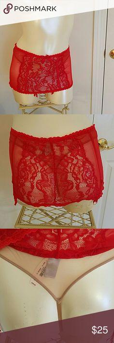 NWT Victoria's Secret garter belts red  M NWT Victoria's Secret garter belts red size M.built in thong panty. Victoria's Secret  Intimates & Sleepwear