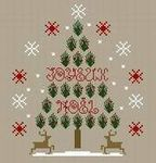 37SapinNoel2009; Joyeux Noel; cross stitch pattern in color with DMC color key; pattern from France; beautiful!