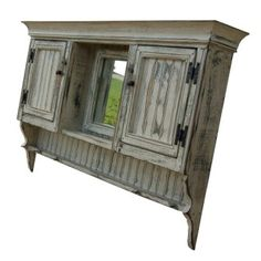 primitive furniture | Vanity Cabinet Large-Country Rustic Primitive Furniture