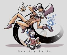 △ Gravity Falls- Bill Cipher and Dipper Pines △