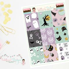 """New Release! Spooky Doodles Kit, find the other coordinating sheets in the """"Build a Kit"""" section! ;)"""