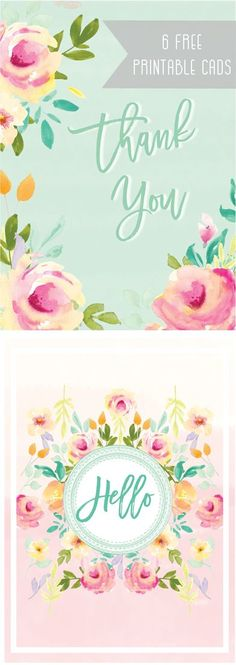 6 Free Gorgeous Printable Cards - Free Pretty Things For You