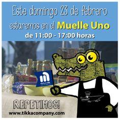 Este domingo 23 de febrero REPETIMOS en Mercado Gourmet del Muelle Uno (Málaga).  Nos gustó tanto la experiencia que no podíamos faltar en esta ocasión. Ofreceremos una degustación a lo largo del día y esta vez de PLATOS CALIENTES.  ¡Te esperamos allí de 11:00 a 17:00 tarde!  www.tikkacompany.com