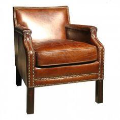 Brown Leather Arm Chair NailHead Trim Gallery