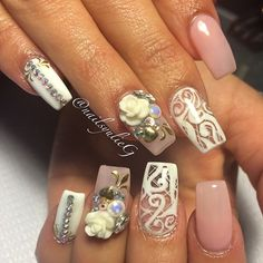 Coffin nails with design