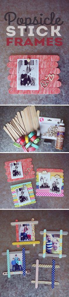 Popsicle Stick Photo Frames