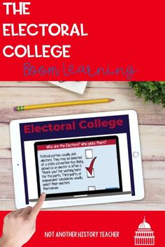 This amazing product has 35 interactive boom slides on the Electoral College. There are boom cards with tons of information about the electoral college with a true-false, fill-in-the-blank, short answers, and matching questions about the reading. This is a fun and interactive way to learn about how the president is elected.