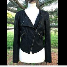 "Selling this ""Free People black Vegan Leather zip Moto Jacket"" in my Poshmark closet! My username is: richbororiches. #shopmycloset #poshmark #fashion #shopping #style #forsale #Free People #Jackets & Blazers"